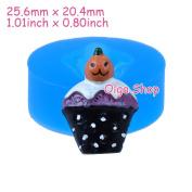 J309 Silicone Fimo Mould Mould Halloween Cupcake Fantome