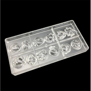 VAK Twelve constellations Chocolate Cake Moulds Plastic Polycarbonate Clear Bakery Fondant Baking Mould Tool Kitchen Baking Pastry Cupcake Decoration Bakeware Pan Ice Cube Trays