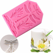 BeautyBouse 3D Silicone Waterfowl Dragonfly Chocolate Sugar Fondant Cake Embossing Mould Handmade Soap Mould DIY Baking Decorating Tools
