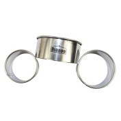 """Dianoo 3PCS Stainless Steel Round Baking Mould, Round Food Ring, Cake Ring Moulds - 2.36"""" (6cm), 2.76"""" (7cm) and 3.15"""""""