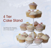 4 TIER CAKE STAND CUPCAKE BIRTHDAY PARTY / WEDDING PARTY TOWER STAND