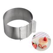 OUBORUI Stainless Steel Mousse Mould Adjustable Baking Mousse Tiramisu Round Shape Ring