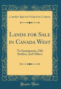Lands for Sale in Canada West