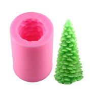 BeautyBouse 3D Silicone Christmas Tree Chocolate Sugar Fondant Cake Embossing Mould Handmade Soap Mould DIY Baking Decorating Tools
