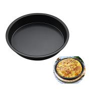 OUMOSI 23cm Pizza Pan Nonstick Coating Pizza Tray Round Pizza Baking Pan