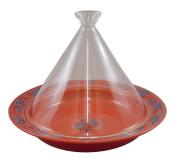 Range only dream tagine pot (round) 20cm glass lid Ruby arabesque ID-21-01