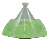 Range only dream tagine pot (corner) 20cm glass lid Green Dot ID-21-21