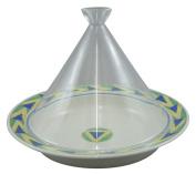 Range only dream tagine pot (round) 20cm glass lid yellow windmill ID-21-04