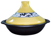 Porcelain open fire and range for Biggutajin pot 26cm yellow arabesque ID-15-01