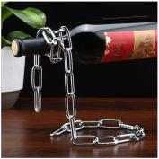 YOOKOON Magic Chain Bottle Rack 3D Suspended Wine Bottle Holder Hanging Flower Ornament Decoration