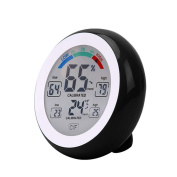 QuiCi Multifunctional LCD Digital Indoor Thermometer Hygrometer Touch Screen Temperature Humidity Metre Min Value Trend Display ℃/℉