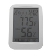 Amazingdeal Touch Display Digital Thermometer Hygrometer Humidity Clock Weather Metre
