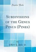 Subdivisions of the Genus Pinus (Pines)