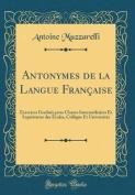 Antonymes de la Langue Francaise [FRE]