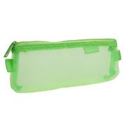 Zip up Nylon Mesh Pen Writing Instruments stationery Organiser Bag Case Green
