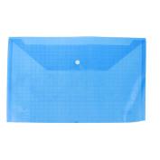 Unique Bargains Student Water Proof A4 Paper Document File Bag Case Holder Organiser Blue Clear