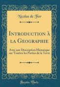 Introduction a la Geographie [FRE]