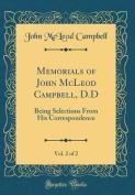 Memorials of John McLeod Campbell, D.D, Vol. 2 of 2