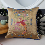 Decorative pillowcase sofa cushions chinese style bedside pillow high precision embroidery fabric-B 45x45cm(18x18inch)Version B