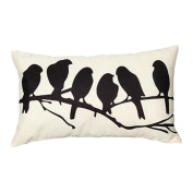 Profusion Circle Rectangle Owl Bird Love Letter Pillow Cushion Cover Case Home Bed Sofa Decoration