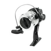 Black Silver Tone Anti Reverse Lever Gear Ratio 5.2:1 Fishing Spinning Reel