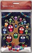 Advent Calendar Card (MED0707) - Christmas Owls
