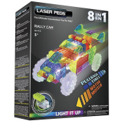 Laser Pegs Ventures 8-in-1 Rally Car Building Kit by Laser Pegs
