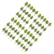 Sharplace 60x Model Trees DIY Railway Scenery Landscape Accssory 9cm 1/100 HO OO