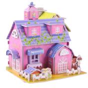 LA HAUTE 3D Jigsaw Puzzles DIY Car, Windmill, Dollhouse Kit Creative Learning Toys Christmas Gift