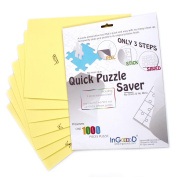 Ingooood- Puzzle saver- Sheet Peel - Preserve and Hang Your Jigsaw Masterpiece Without Hassle - Easily Frame Most Boards With a Strong Adhesive the Best Way to Preserve Your Finished Puzzle