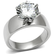 Zoe Engagement Ring Stainless Steel 10mm- Ginger Lyne Collection