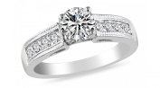 Shauna Engagement Ring 925 Sterling Silver AAA CZ- Ginger Lyne Collection