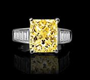 Diamond Veneer - 5 CT. Radiant Emerald shape Engagement/Cocktail Simulated Diamond