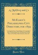 McElroy's Philadelphia City Directory, for 1859