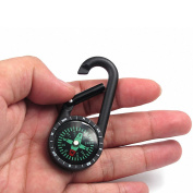 Lixada Portable Nautical Compass Keychain Ring Chain Survival Liquid Filled Compass Carabiner Clip Kit with Snap Hook