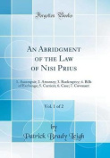 An Abridgment of the Law of Nisi Prius, Vol. 1 of 2