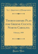 Thoroughfare Plan for Greene County, North Carolina