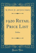 1920 Retail Price List