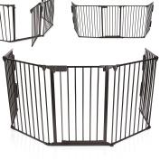 KIDUKU® Children's Safety Barrier Fence Metal Playpen for Baby Children Safety Protection Grille, Length 310 cm, Black