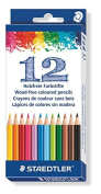 STAEDTLER 20.2 x 8.8 x 0.9 cm Wood-Free Coloured Pencil 175 C12, Assorted, Pack of 12