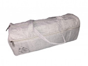 Knitting Bag Wool / Yarn / Craft Storage Bag Light Grey with Embroided Flower
