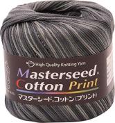 Master seed cotton print wool yarn LIGHT Col.510 black 30 g 106 m
