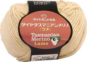 Dia Tasmanian Merino Lame Yarn Yellow Medium Col. 602 Cream 40 g 124 m