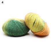 ALCYONEUS Long Rainbow Gradient Colour Crochet Yarns Knitting Wool for Hats Scarf Beanie