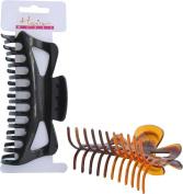 Hairworks 14cm Clamp in Black or Tortoise Shell