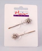 Hairworks Diamante Hair Grips - Pair