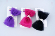 Hairworks Barrette Bow with Pearls in Assorted Colours