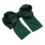 Women Girls Multicolor Satin Ribbon Bow Hair Clips Barrette