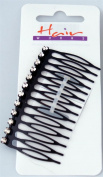 Hairworks Diamante Side Comb in Black