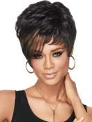 Ladies Wig Short Curly Hair Wig Black Wig Head